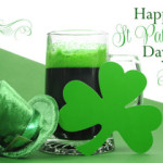 Happy St. Patrick's day with green beer